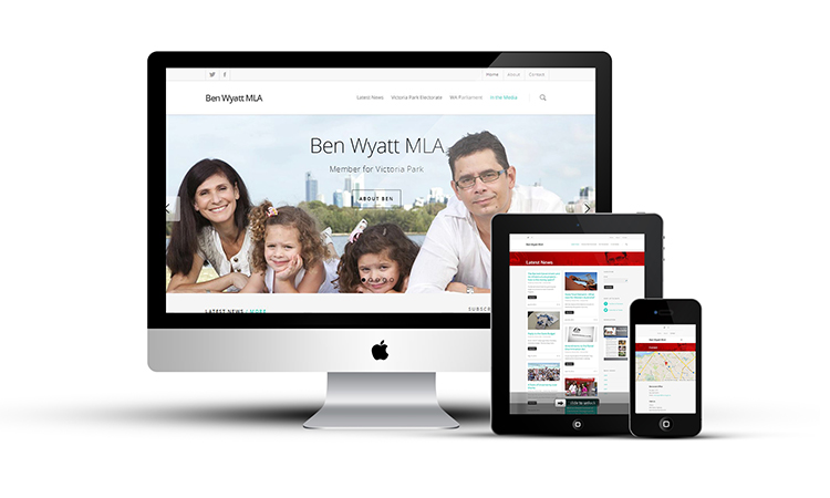 Website for Ben Wyatt MLA by Hook and Loop Web and Print Content and Design Perth